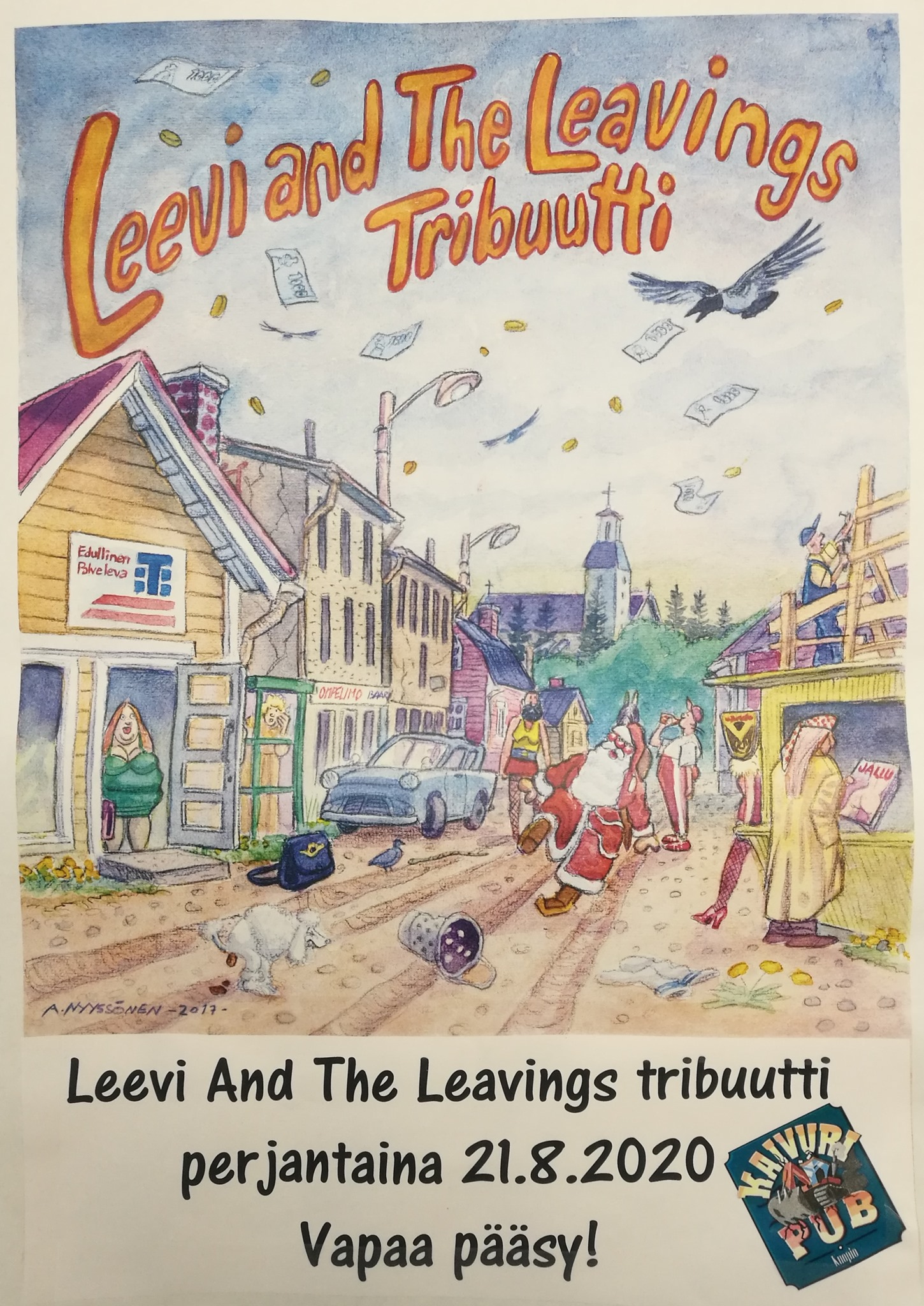 PE 21.8.2020 Leevi and The Leavings Tribuutti